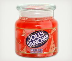 I hope they are passing these out when we go trick or treating. Jolly Rancher Scented Candles | Cool Material