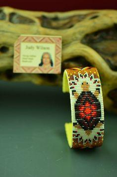 Navajo Beaded Turtle Bracelet by Judy Wilson
