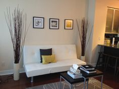 Living room One Bedroom, Entryway Bench, Den, Couch, Living Room, Furniture, Home Decor, Entry Bench, Hall Bench