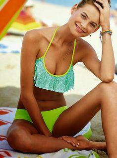 Victoria's Secret Swim Lookbook December 2013 featuring Behati Prinsloo