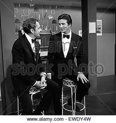 Werner Müllers Schlagermagazin, Musiksendung, Deutschland 1965, Regie: Dieter Wendrich, Gaststar: Harald Juhnke, Pierre Brice - Stock Image
