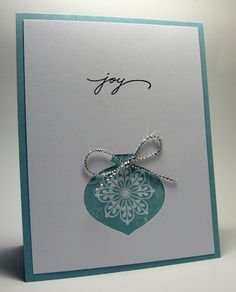 stamping up north:  This could also be a heart die cut,   # Pin++ for Pinterest #