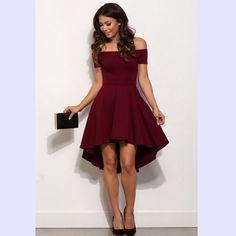 Летнее платье Новое поступление 2017 года Для женщин с открытыми плечами Платья для вечеринок бордовый цвет: черный, синий Повседневное элегантный Винтаж миди платье vestidos купить на AliExpress