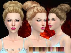Butterflysims: Skysims 164 donation hairstyle • Sims 4 Downloads