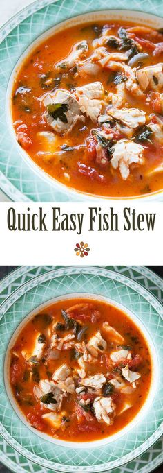 Dad's Fish Stew ~ Quick, easy, and absolutely delicious fish stew! Fresh fish fillets cooked in a stew with onions, garlic, parsley, tomato, clam juice and white wine. Seasoned with oregano, Tabasco, thyme, salt and pepper. ~ SimplyRecipes.com