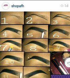Now this is how you do a brow. Facial Waxing, Eyeliner, Eyebrows, Lip Art, Art Tutorials, Salons, Lips, Eye Makeup, Girl Stuff