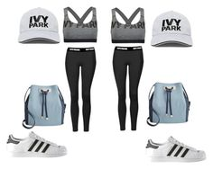 """""""jumelles au sport IVY PARK"""" by chanelikoli on Polyvore featuring Topshop, Ivy Park, INC International Concepts and adidas"""