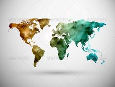 World Map — Vector EPS #globe #abstract • Available here → https://graphicriver.net/item/world-map/5133456?ref=pxcr
