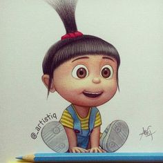 Agnes from Despicable Me! Drawn with colored pencils 😊 Disney Kunst, Arte Disney, Disney Art, Cartoon Wallpaper, Cute Disney Wallpaper, Wallpaper Pictures, Disney Drawings, Cute Drawings, Agnes Despicable Me