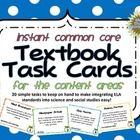 Looking for an easy way to integrate ELA Common Core standards with science and social studies? These 20 task cards include simple tasks that requi...