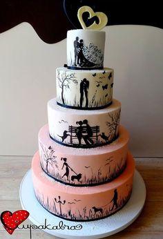 Ciupakabra – Torten/Fondant /Gestaltung – – Wedding Cakes With Cupcakes Wedding Cakes With Cupcakes, Cupcake Cakes, Our Wedding, Dream Wedding, Bling Wedding, Wedding Dress, Silhouette Cake, Homemade Muesli, Wedding Cake Designs