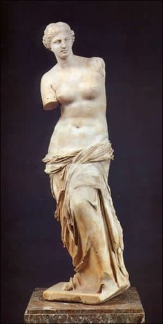 <1. sculpture >  Venus,ancient Greece  I thought sculpture is the first 3D modeling people tried. People make something resemble things in real world as a 3D.