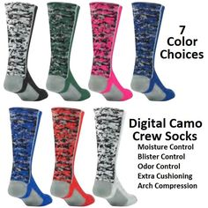 Digital Camo Basketball Socks