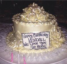 Kylie Jenner Birthday Cake 19th Cakes White 20th