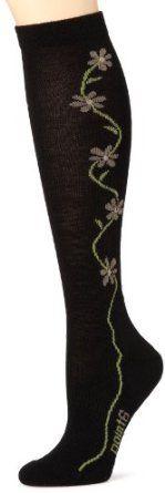 point6 Women's Fleur D'vine Light Cushion Over the Calf Socks (Black, Large) point6. $19.95