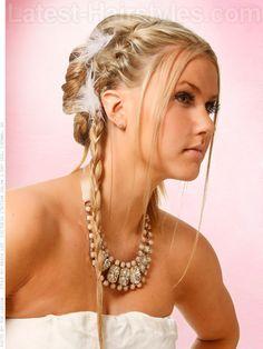 Boho Princess - Cute Blonde Braided Upstyle
