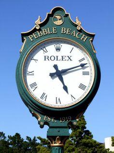 CLOCK~The Rolex Clock At Pebble Beach