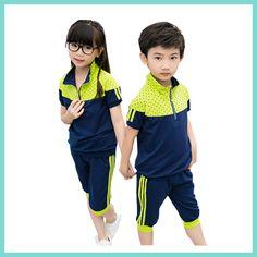 kids uniform sets sports wear tops and bottom kids sportswear в 2019 Kids Uniforms, School Uniforms, Sport Outfits, Casual Outfits, Kids Sportswear, Look Girl, Sport Man, Sport Girl, Sport Chic