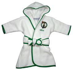 #Fanatics.com - #Chad & Jake Boston Celtics Infant Personalized Robe - White - AdoreWe.com