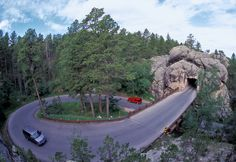 The Pigtail Bridges on Iron Mountain 17 miles, 314 curves, 14 switchbacks, 3 pigtails, 3 tunnels, 4 presidents