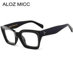 be76055e402 ALOZ MICC Black Frame Square Transparent Glasses Women Retro Acetate Men  Eyeglassesmodlilj Womens Glasses