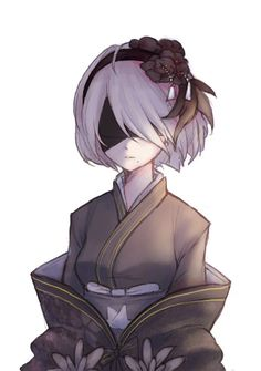 Nier Automata - : Kimono version Anime quotes and memes and sexy anime artwork & drawings of manga and anime art that i find interesting and like to draw for myself as well. Art Manga, Manga Anime, Neir Automata, Estilo Anime, Anime Kunst, Beautiful Anime Girl, Kawaii Anime, Game Art, Anime Characters