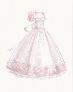 Too beautiful for me.. Dress Design Drawing, Dress Drawing, Fashion Design Drawings, Fashion Sketches, Cute Dresses, Beautiful Dresses, Anime Girl Dress, Manga Clothes, Dress Sketches