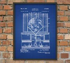 Nuclear Reactor Patent Wall Art Poster by QuantumPrints on Etsy