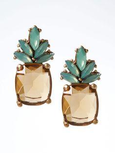 Pineapple Jewel Stud Earring | Banana Republic