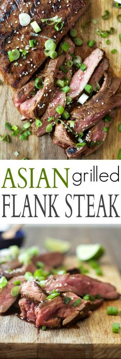 Asian Grilled Flank Steak that is melt in your mouth delicious! This Flank Steak is marinaded with a swoon worthy Asian sauce and then grilled to sear in all the flavors for the ultimate dinner done in minutes! | joyfulhealthyeats.com #glutenfree