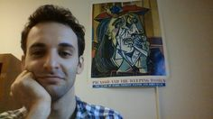 Hi, I'm Noah Chafets. I'm a PhD student in the Committee on Social Thought at the University of Chicago. Above is me in the best-decorated office I've ever had on campus at U Ch… Phd Student, Baseball Cards, Sports, University, Chicago, Fictional Characters, Woman, Hs Sports, Sport