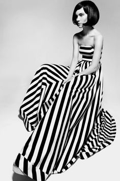 optic stripes.  Love this dress!  I could sew this...