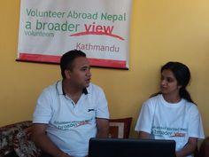 Volunteers Hannah Jethwa in Nepal Kathmandu at the orphanage program https://www.abroaderview.org