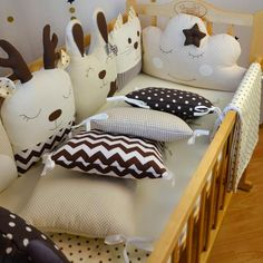 Crib Bumper Set, Bed Bumpers, Baby Bumper, Baby Girl Bedding, Baby Bedding Sets, Baby Bed Bench, Cube Photo, Bedding Inspiration, Cloud Pillow