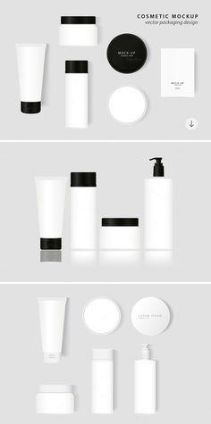 Cosmetic Packaging Vector MockUp - Product Mockups - 1