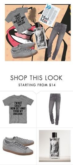 """""""Untitled #11"""" by almir1010 ❤ liked on Polyvore featuring True Religion, Golden Goose, Abercrombie & Fitch, men's fashion and menswear"""