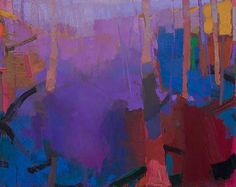 """Art by Brian Rutenberg -- Grape Meadow; 2014-2015; Oil on linen; 46"""" x 58"""" [BR 43]"""