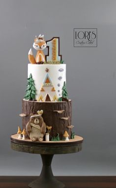 camp with baby Erster Woodland-Geburtstag von Lori Mahoney (Loris Custom Cakes) Boys 1st Birthday Party Ideas, Baby Boy 1st Birthday Party, Baby Birthday Cakes, Baby Party, 50th Birthday, Birthday Beer, Happy Birthday, Birthday Recipes, Birthday Quotes