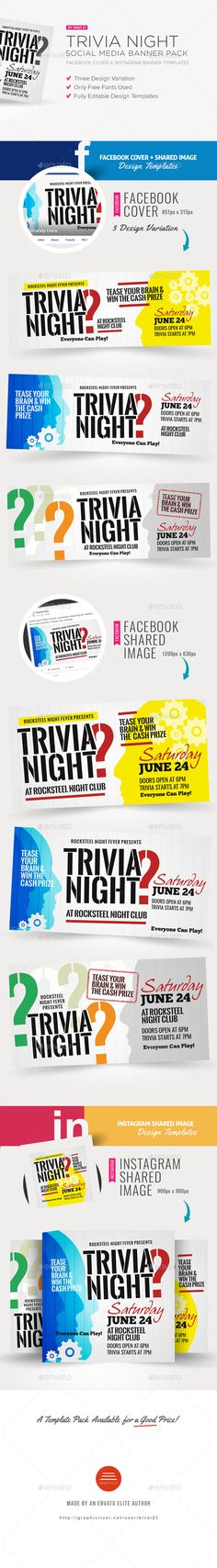 Trivia Night Flyer Templates | Flyer template, Brochure template ...