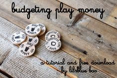 budgeting play money for kids