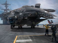 ArtStation - Heavy Fighter on aircraftship dеck for test landing system, Oshanin Dmitriy
