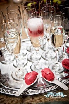 Champagne and Sherbet shooters