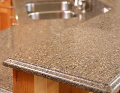 Solid surface countertops are made from a hard acrylic material, offering a low-maintenance and economic alternative that suits the majority of kitchens. Click the image to visit our site and see more ideas for kitchen countertops. Quartz Countertops Colors, Silestone Countertops, Types Of Countertops, Solid Surface Countertops, Concrete Countertops, Diy Concrete, Kitchen Countertop Materials, Kitchen Countertops, Cooking