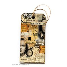 beautifully collaged tag