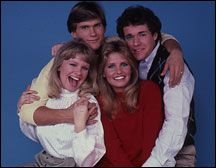 Guiding Light's Four Musketeers (Judi Evans as Beth Raines, Grant Aleksander as Phillip Spaulding, Krista Tesreau as Mindy Sue Lewis, Michael O'Leary as Rick Bauer)