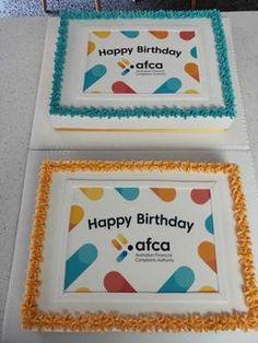 Custom Crafted Logo Message Cakes - PFM Events & Catering – PFM - Events & Catering Gluten Free Icing, Gluten Free Cakes, White Chocolate Mud Cake, Delicious Catering, Single Layer Cakes, Craft Logo, Cake Sizes, Vanilla Sponge, Diamonds