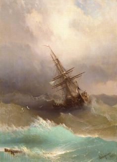 IVAN KONSTANTINOVICH AIVAZOVSKY, 1887  Oil on canvas, The Hermitage, St. Petersburg