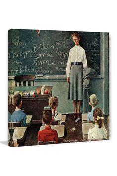 Happy Birthday, Miss Jones by Norman Rockwell Canvas Wall Art   HauteLook