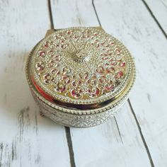 Victorian Brass Box Gold Jewelry Box Gold by ShabbyChicJCouture