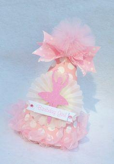Ballerina Birthday Party Hat for Ballet Birthday Party
